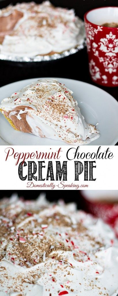 Easy Peppermint Chocolate Cream Pie