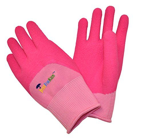 G  F 20402P JustForKids Premium MicroFoam Texture Coated Kids Garden Gloves Kids Work Gloves Pink 1 Pair *** You can find more details by visiting the image link.