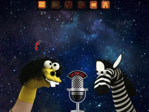 Sock Puppets lets you create your own lip-synched videos and share them on Facebook and YouTube. Add Puppets, props, scenery, and backgrounds and start creating. Hit the record button and the puppets automatically lip-synch to your voice.