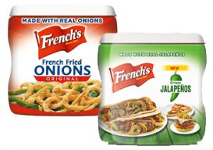 $1 off French's Crispy Fried Onions or French's Crispy Jalapenos Coupon on http://hunt4freebies.com/coupons