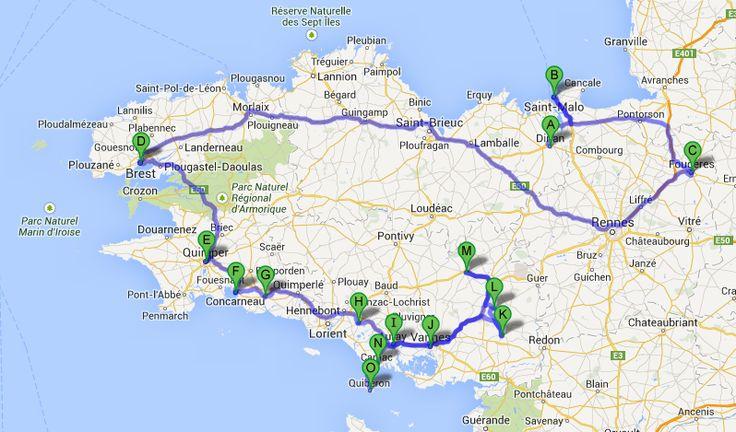 mapa de bretaña y normandia - Buscar con Google