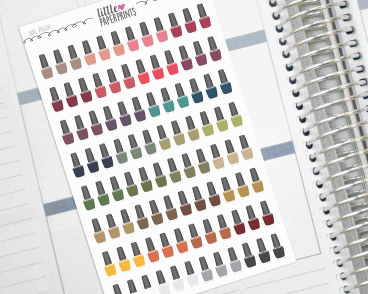 """Nail Polish Stickers - 96  """"A Polish of Autumn"""" Stickers - Exclusive Nail Polish Manicure and Pedicure Decorative Stickers by LittlePaperPrints on Etsy https://www.etsy.com/listing/470265721/nail-polish-stickers-96-a-polish-of"""