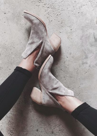 Favorite Fall Booties (these cutout ankle boots by Jeffrey Campbell)