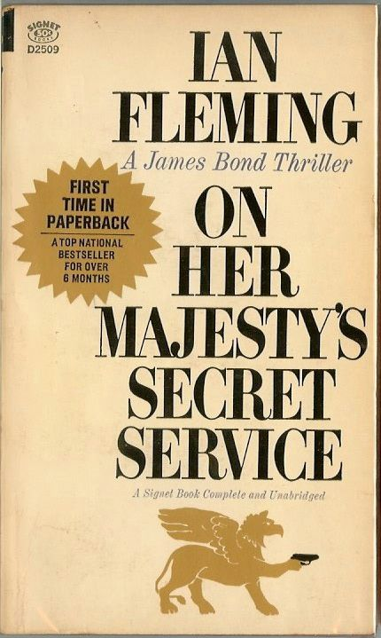 Classic James Bond BookArt - On Her Majesty's Secret Service