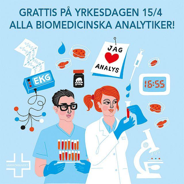 Grattis biomedicinska analytikerdagen | by Vårdförbundet