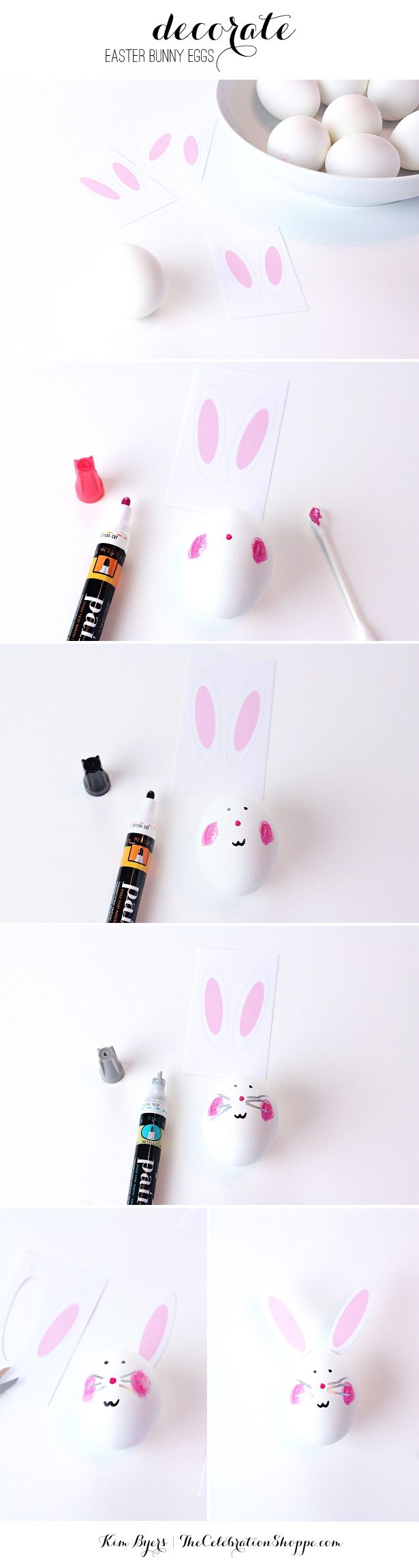 DIY Easter Egg Easter Bunnies | Decorating Easter Eggs @kimbyers TheCelebrationShoppe.com