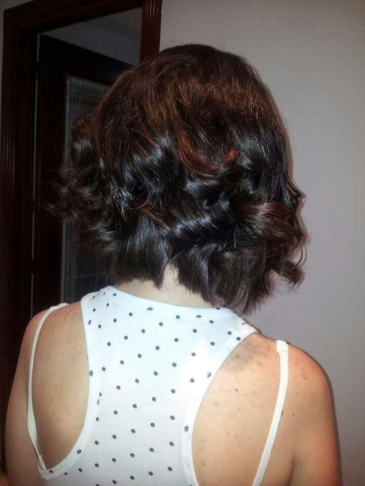 Rizos Con Plancha En Pelo Corto Peinados Recogidos Y