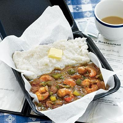 South Carolina Shrimp Gravy and Grits | Talk about flavor! Grits & Groceries has perfected this low country dish. Get their recipe! | SouthernLiving.com