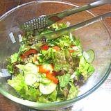 絶賛♪グリーンサラダ~基本だけでも♪簡単野菜サラダ