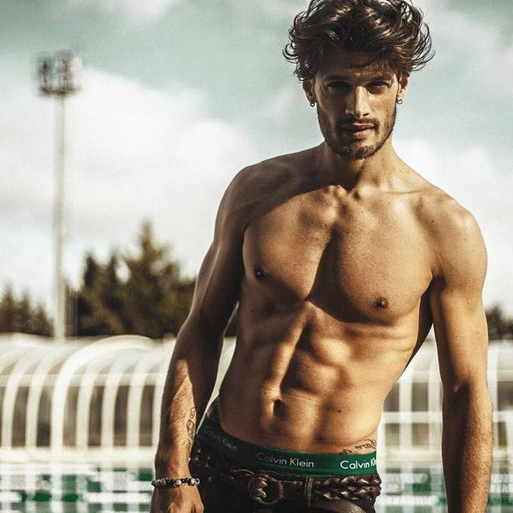 Stelios Niakaris.    #male #model #greek #boy #handsome #shirtless #abs #perfect #body #underwear #calvin #klein