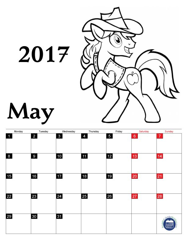 17 Best images about Coloring Pages Calendar 2017 for Kids ...