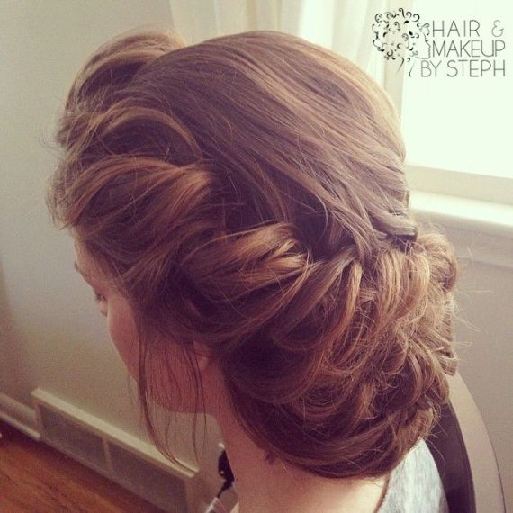 We're continuing our exciting new wedding hairstyle series with Day 2: Victorian Updo! We spotted this pretty + pulled-back victorian updo hairstyle and we love the look. It's perfect for a vintage...