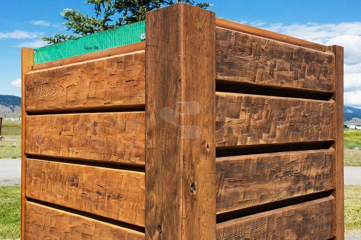 10 plank everlog concrete log siding left side E log siding
