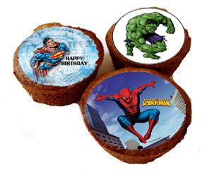 Spiderman,Superman,Hulken minipictures for cup cakes