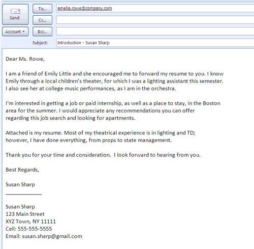 email letter for job applicationformat sample cover
