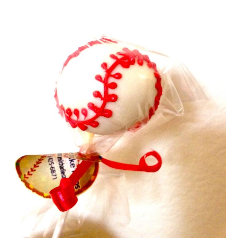 Baseball Cake Pops - Baseball Cake Pops