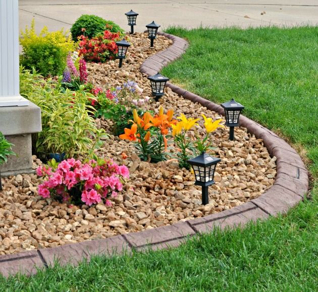 25 best ideas about rock flower beds on pinterest for Rock garden bed ideas