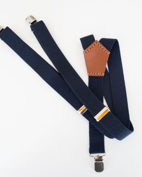 Harvey Max Navy Suspenders