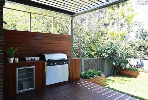 outdoor wooden kitchen the block all stars amity and phil - Google Search