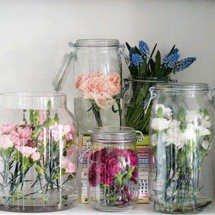 fresh flower terrarium