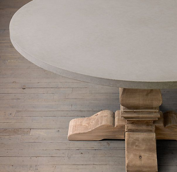 I Like The 72 Inch Round Trestle Tables From Rh