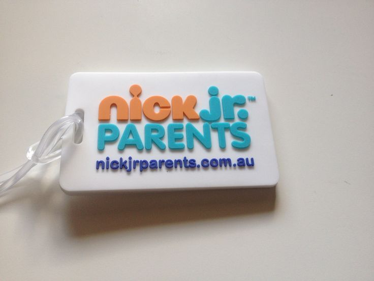 Nickelodeon 2d rubber luggage tags custom made
