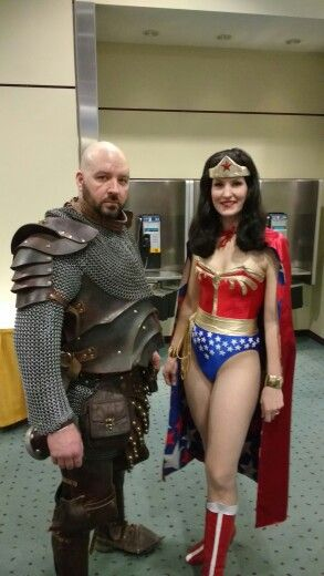 Unkown Character and a nicely done Wonder Woman.