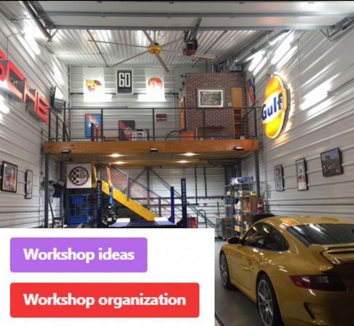 Garage Workshop Ideas And Garage Storage Upper Cabinets