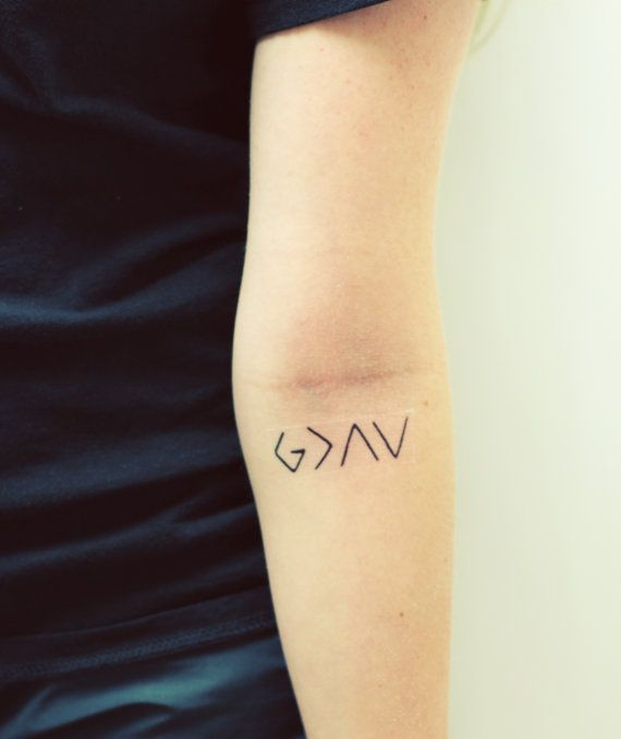 Hey, I found this really awesome Etsy listing at https://www.etsy.com/listing/184231645/temporary-tattoo-god-is-greater-than-the