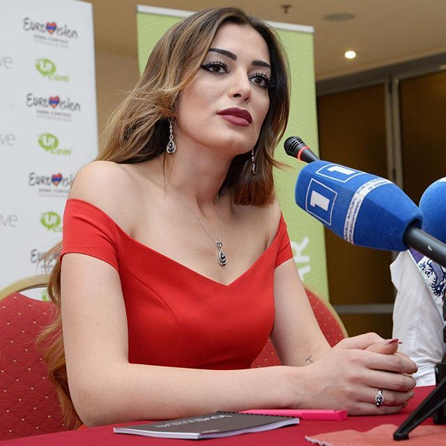 And, of course, we will have the flag of #Artsakh with us. ✊  #PressConference #Eurovision #Armenia