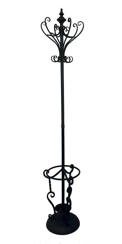 wrought iron french provincial coat stand umbrella holder antique hat hanger