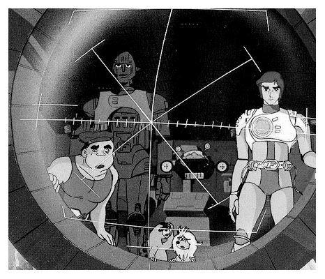 Otho, Grag, Professor Simon und der Captain. Vorne hocken Yeek und Oak. Ezra Gurney und Joan Landor fehlen leider. Schade.