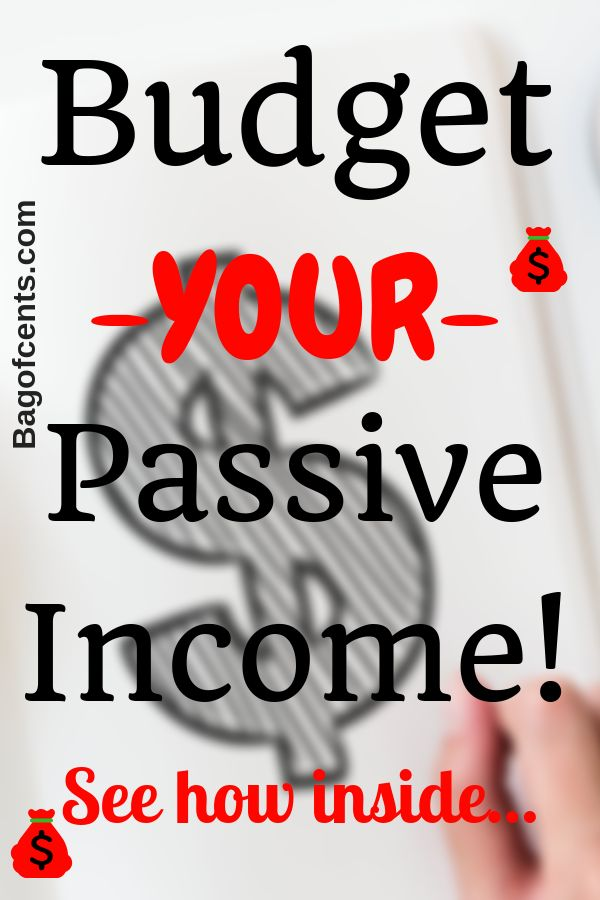 Budget your Passive Income