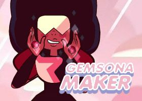 There's a Gemsona Maker game out on DollDivine, and let me tell you: I. AM. HOOKED. It's so customizable and unique! It has tons of gems and locations, as well as customizable proportions!! You can even Fuse them into Gem of Human Fusions. You can even make your own unique weapons! It might be a bit slow at times, there's a lot on the game. I SERIOUSLY recommend that anyone who hasn't played it and wants to make a Gemsona should play it right away. What're you doing still reading? GO PLAY…