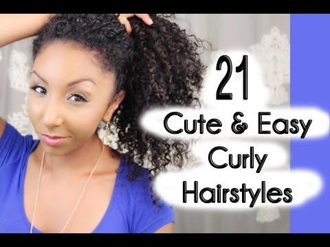 10 best ideas about easy curly hairstyles on pinterest