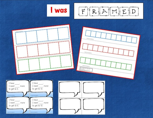 "Five and Ten Frame Game: such a clever way to teach addition combos Would you like a set of these with ""math talk"" cards that go with it? how about a blank template as an extra bonus? Grab your mouse and click here."