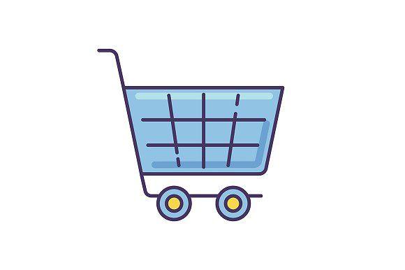 Shopping Cart Blue Rgb Color Icon Biru Png Gambar Hiasan
