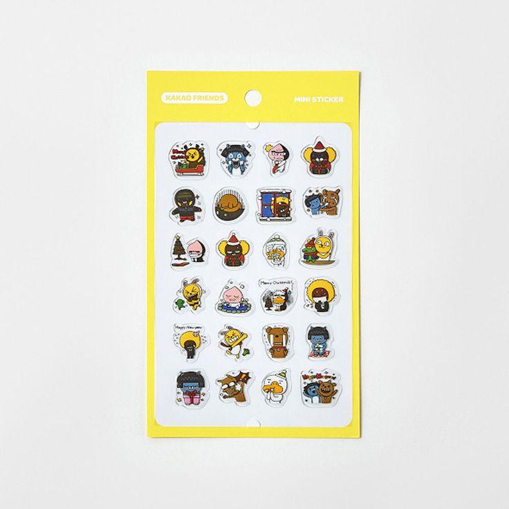 Korea Kakao Talk Friends Character Transparent Mini Sticker Winter ver1 #KakaoFriends #Transparentstickers