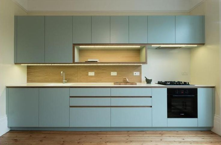 Laminated ply kitchen with integrated LED lighting