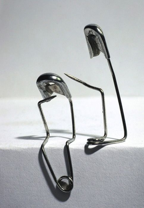 Who knew safety pins could be so expressive??? This is very cool.