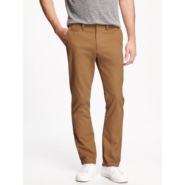 Old Navy Broken In Slim Fit Twill Khakis For Men ($30) ❤ liked on Polyvore featuring men's fashion, men's clothing, men's pants, men's casual pants, brown, mens slim pants, mens slim fit pants, mens khaki pants, mens slim fit khaki pants and mens twill pants