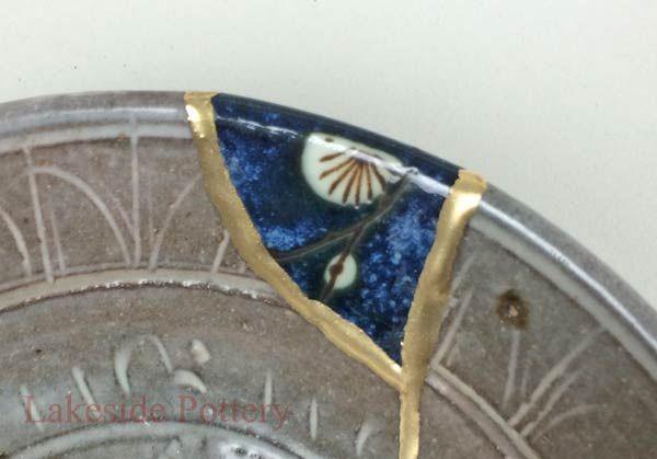 Mishima Chawan Bowl Kintsugi Yobitsugi style repair