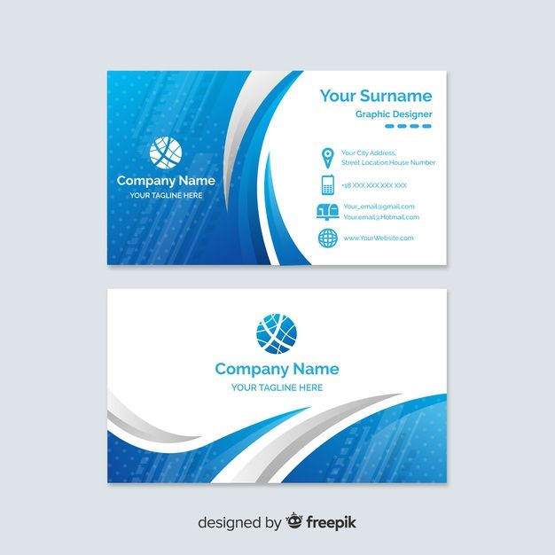 Download Abstract Gradient Business Card Template For Free Free