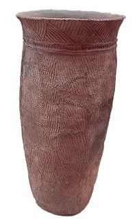 AZIE / ca. 9000 v.Chr. Jomon-periode in Japan. ( touwfiguren op aardewerk afgebeeld )