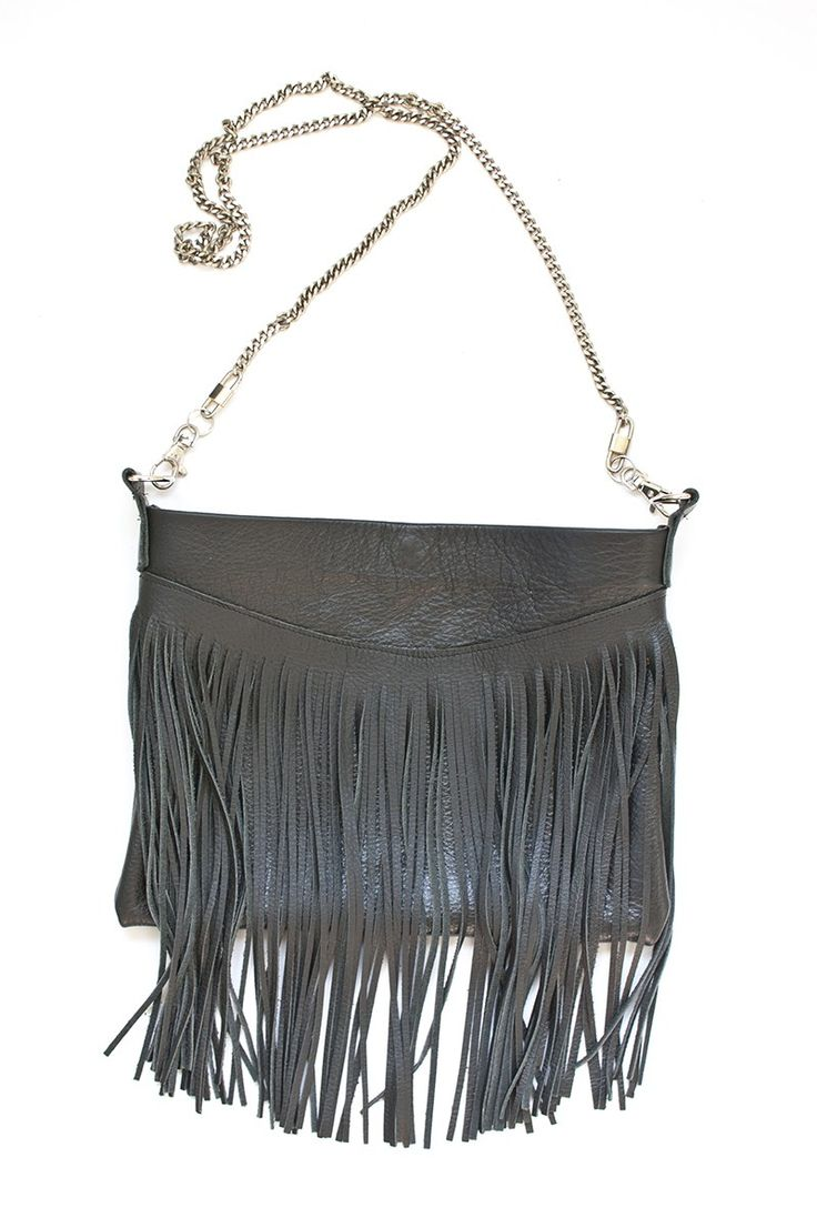 Fringed Leather Bag • diy how to make tutorial ideas projects sew pattern handmade instructions
