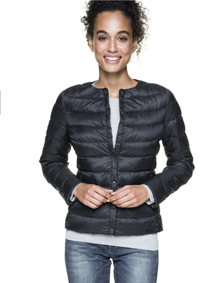 Collarless duvet jacket - DOWN JACKETS - COATS & JACKETS - WOMAN