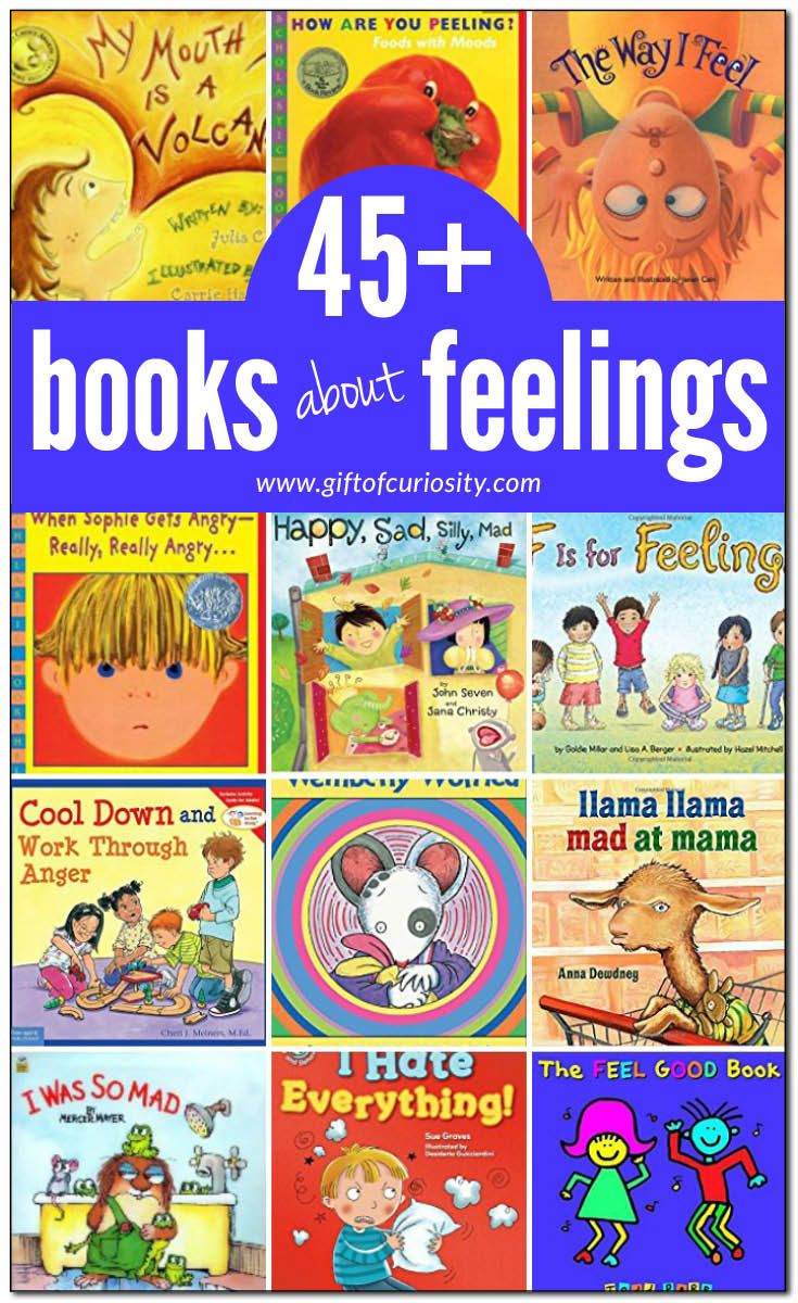 45 books about feelings for kids