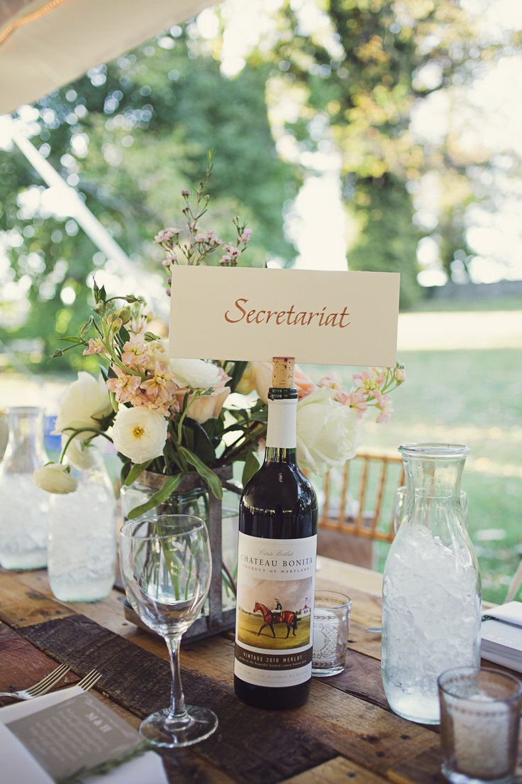 Table names for a race horse farm/vineyard wedding. Photography By / http://brookecourtney.com, Event Planning By / http://weddingsandeventsbliss.com