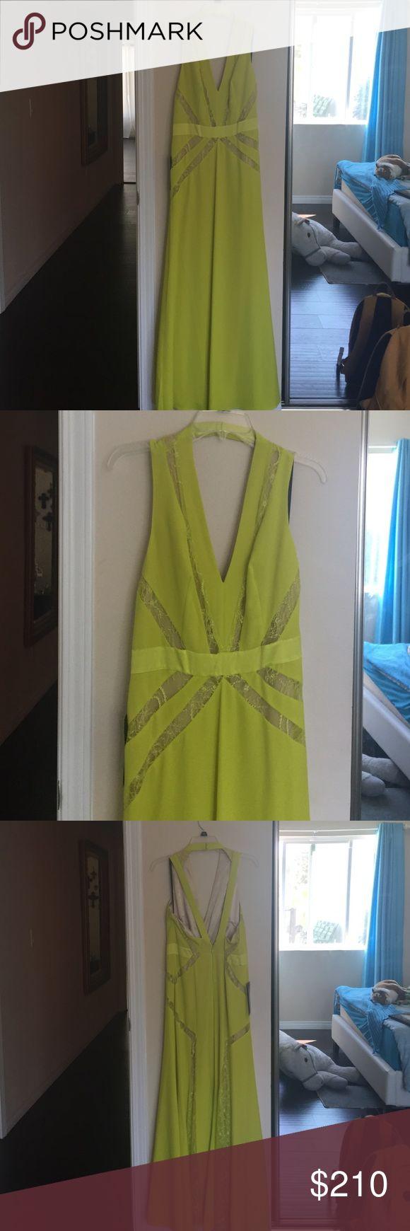 Yellow/green long dress Yellow/green long dress bebe Dresses Prom
