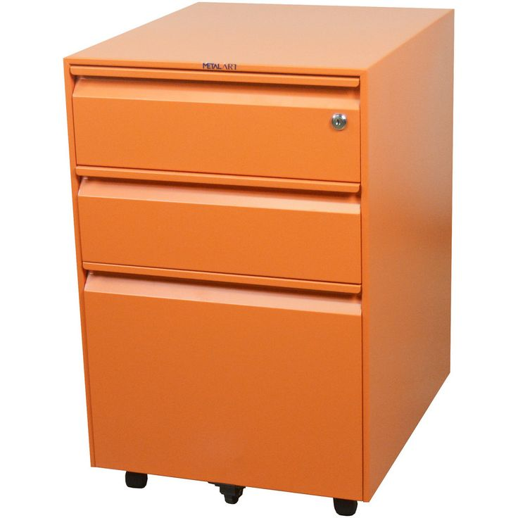 Heavy-Duty mobile pedestal fits under any desk. Ball bearing suspension in all drawers and ready for letter and legal hanging folders. Pencil tray and lock.